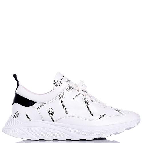 Белые кроссовки Blumarine с принтом, фото