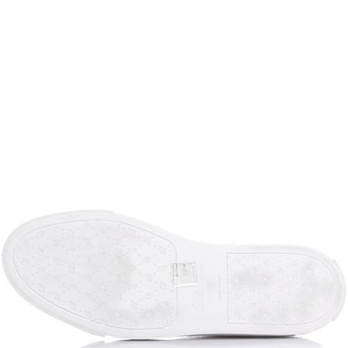 Белые кеды Blumarine с брендовым тиснением на коже, фото