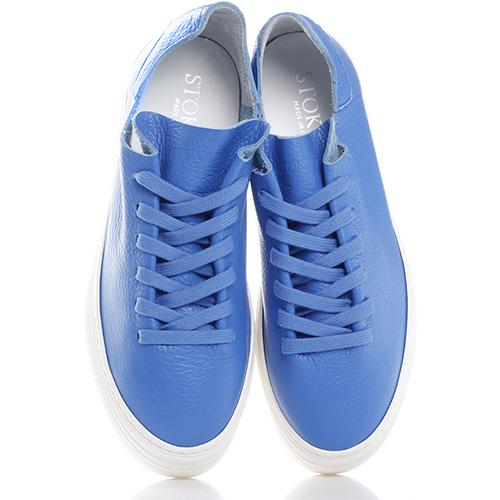 Синие кеды Stokton из мягкой кожи, фото