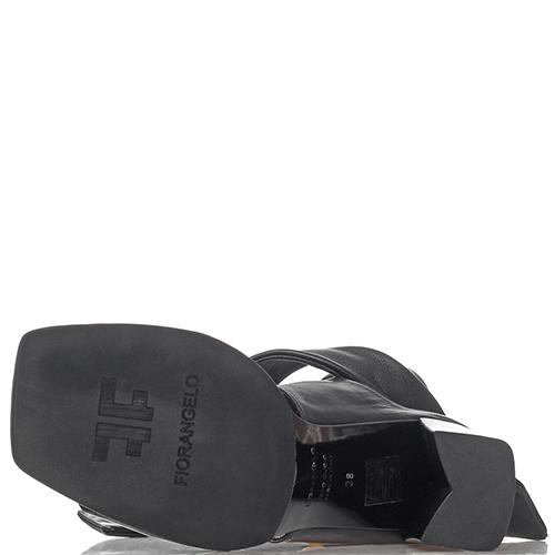 Черные босоножки Fiorangelo на широких завязках, фото