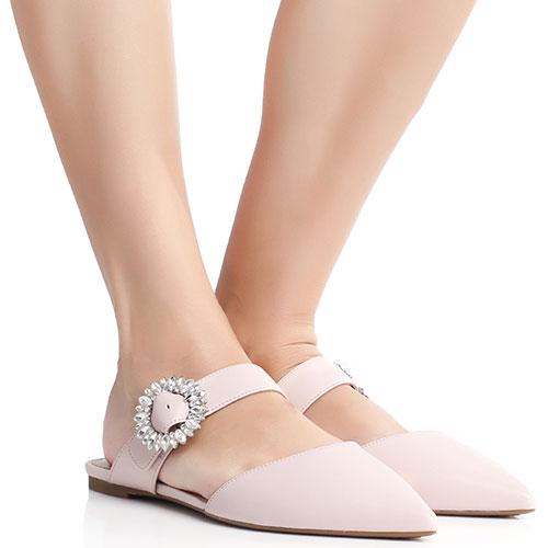 Розовые мюли Michael Kors с острым носком, фото