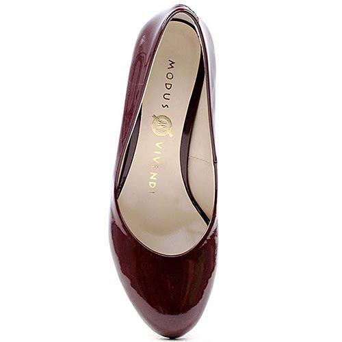Туфли Modus Vivendi из лаковой кожи темно-бордового цвета, фото