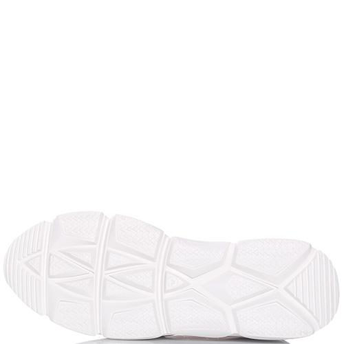 Кроссовки Stokton из кожи и белого гипюра, фото