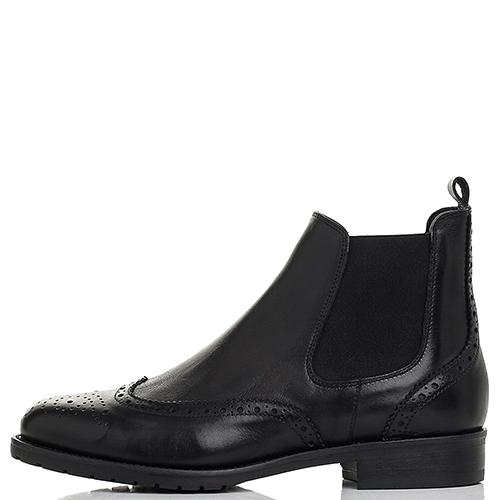 Ботинки-броги Mally черного цвета, фото