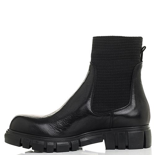 Черные ботинки Fru.It на толстой подошве, фото