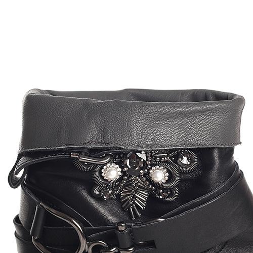 Черные ботинки Fru.It Now со съемным ремешком, фото