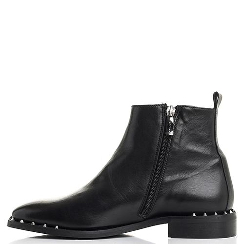 Черные ботинки Mally с декором-шипами, фото