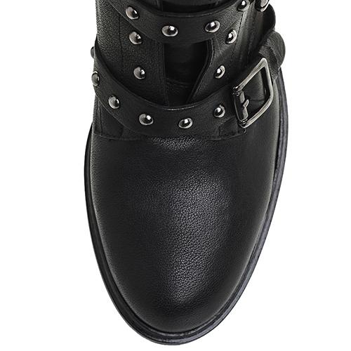 Черные ботинки Mally с декором-заклепками, фото