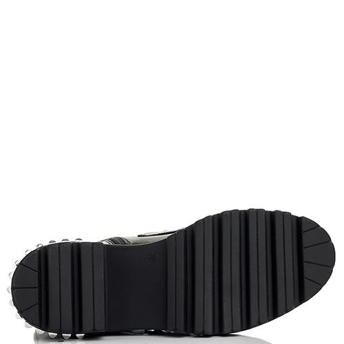 Черные ботинки Mally декорированные шипами, фото