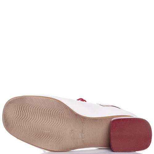 Босоножки Mally белого цвета на шнуровке, фото