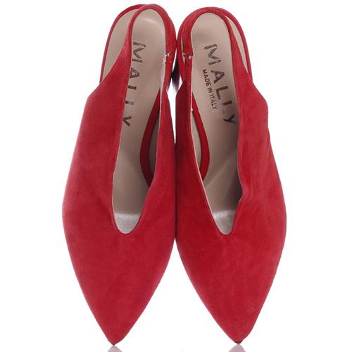 Замшевые туфли Mally с острым носком, фото