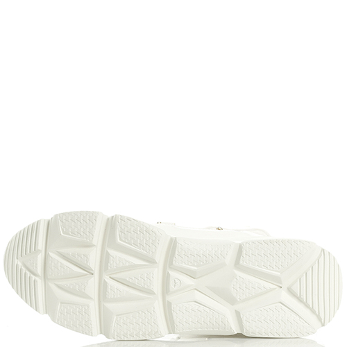 Высокие кроссовки Stokton из лаковой кожи белого цвета, фото