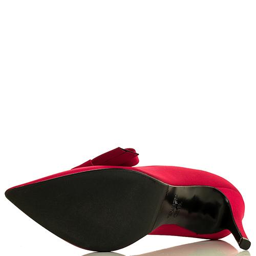 Красные лодочки Chantal с декором в виде банта, фото