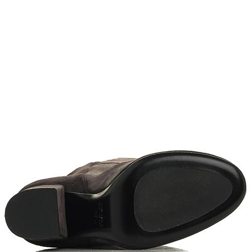 Замшевые ботфорты Strategia темно серого цвета, фото