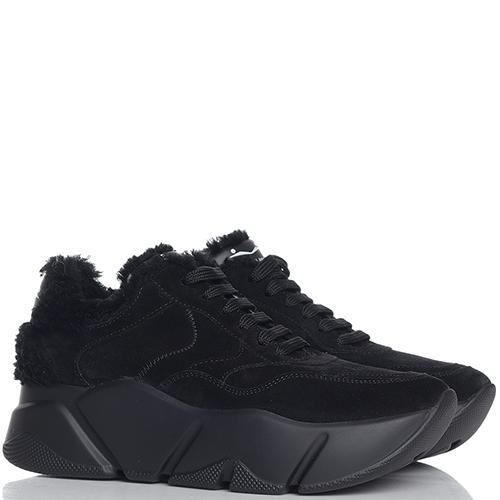 Черные кроссовки Voile Blanche на толстой подошве, фото