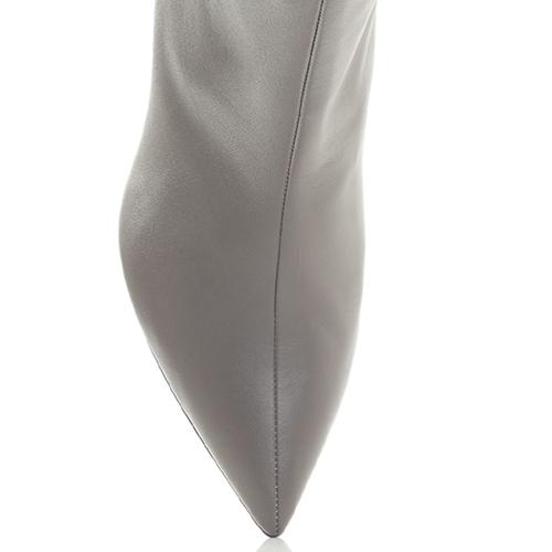 Серые ботильоны Fabio Rusconi с острым носком, фото