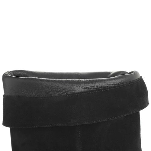 Черные ботфорты Fabio Rusconi на устойчивом каблуке, фото