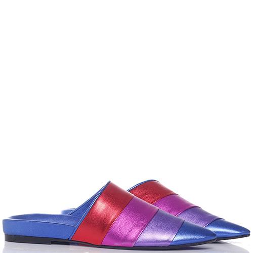 Цветные мюли Apepazza с острым носком, фото