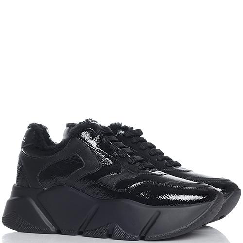 Лаковые кроссовки Voile Blanche Monster черного цвета, фото