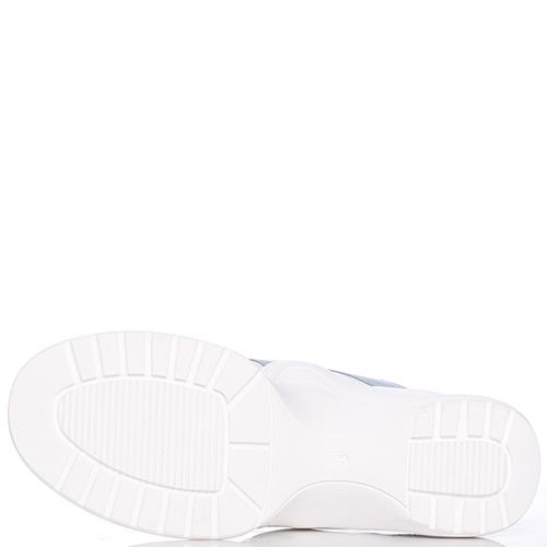 Кроссовки Nila&Nila белого цвета на толстой подошве, фото