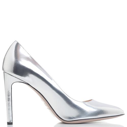 Туфли-лодочки Fabio Rusconi серебристого цвета, фото