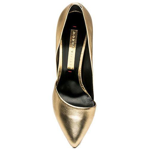 Туфли Modus Vivendi золотого цвета на высокой шпильке, фото