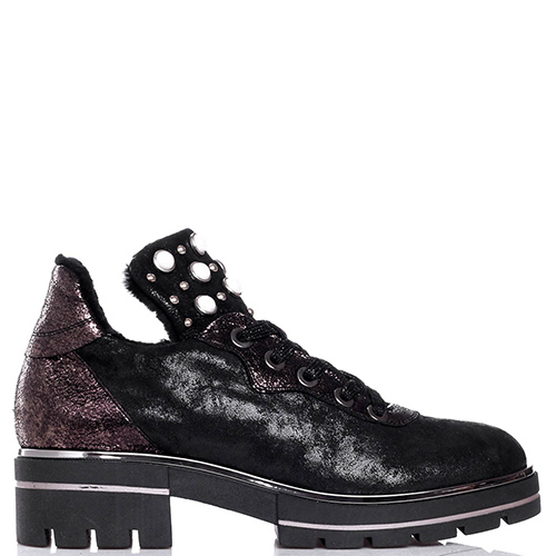 Черные туфли Tine's с декором-бусинами, фото