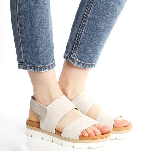 Серые сандалии Tine's с плетением вдоль подошвы, фото