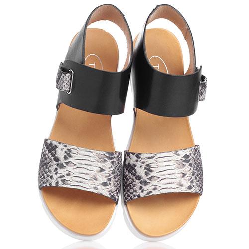 Черные сандалии Tine's на липучке, фото
