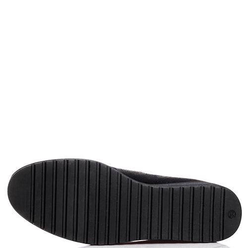 Туфли Tine's черного цвета с декором-бусинами, фото