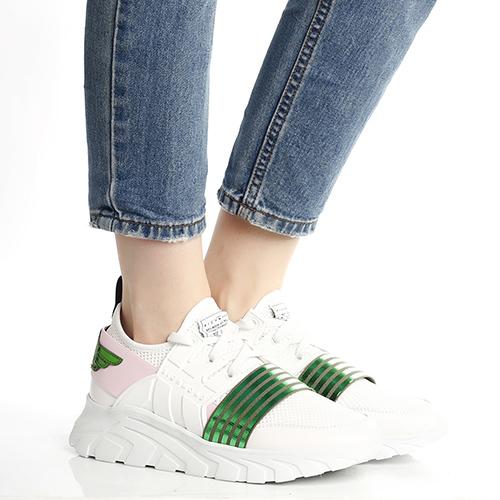 Белые кроссовки John Richmond на толстой подошве, фото