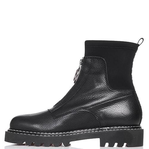 Черные ботинки Jeannot со стежкой вдоль подошвы, фото