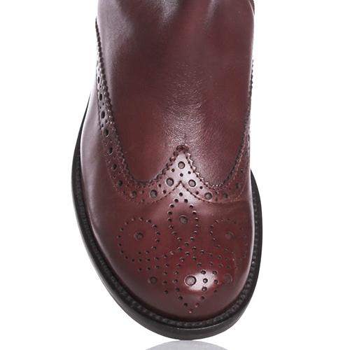 Коричневые сапоги Mally на низком каблуке, фото