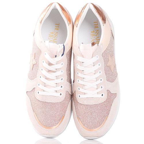 Текстильные кроссовки с нашивкой-звездой, фото