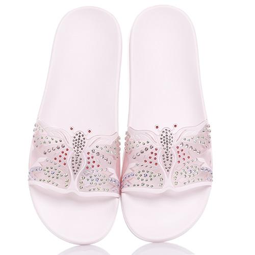 Розовые сланцы Menghi с бабочкой, фото