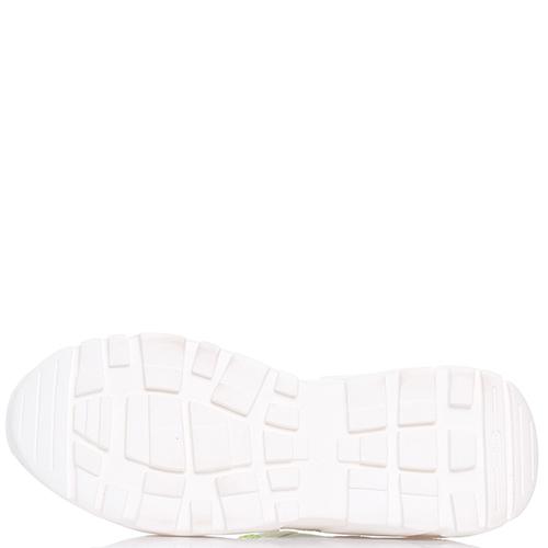 Белые кроссовки Stokton с яркими вставками, фото