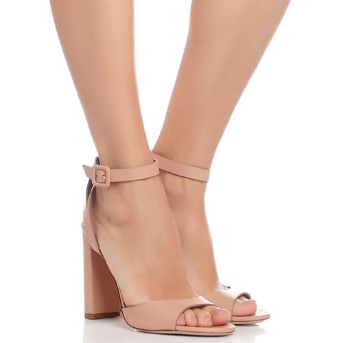 Бежевые босоножки Le Silla на устойчивом каблуке, фото
