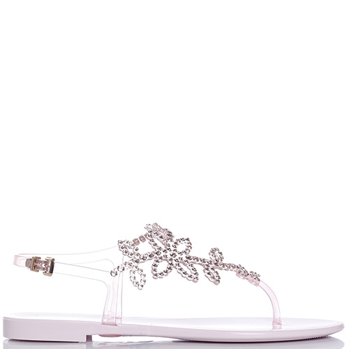 Розовые сандалии Menghi с кристаллами Сваровски, фото