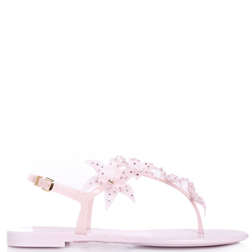 Розовые сандалии Menghi с декором в виде цветов, фото