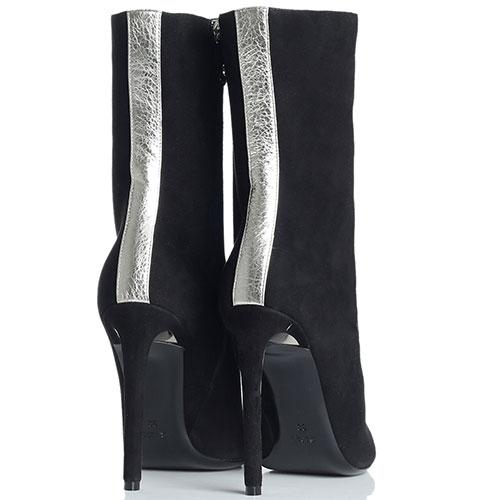Замшевые сапоги Ballin с серебристым носком, фото