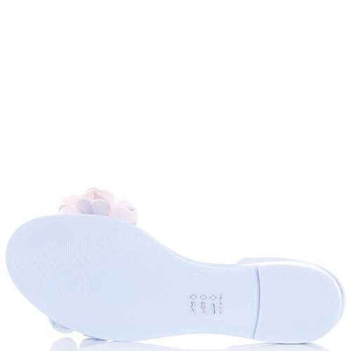 Голубые сандалии Menghi с закрытой пяткой, фото