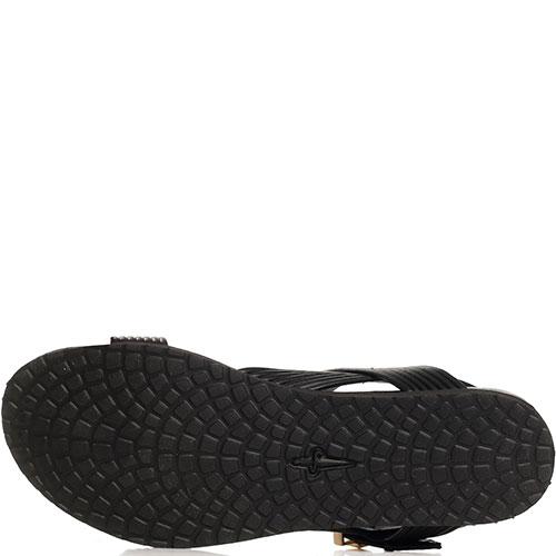 Черные сандалии Cesare Paciotti с крупной пряжкой, фото