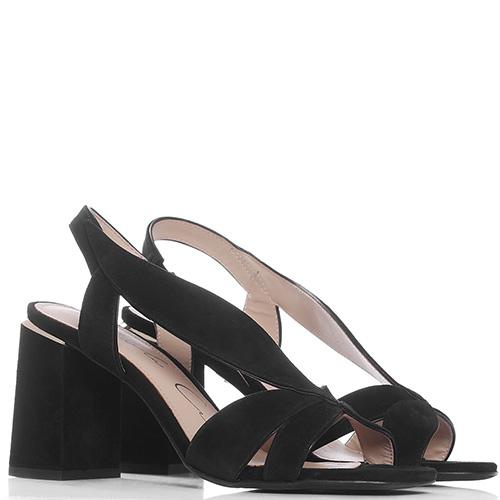 Черные босоножки Lola Cruz на устойчивом каблуке, фото
