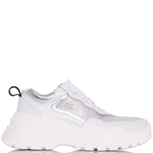 Белые кроссовки Tommaso Marino на толстой подошве, фото