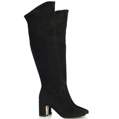 Черные ботфорты Bianca Di на среднем каблуке, фото
