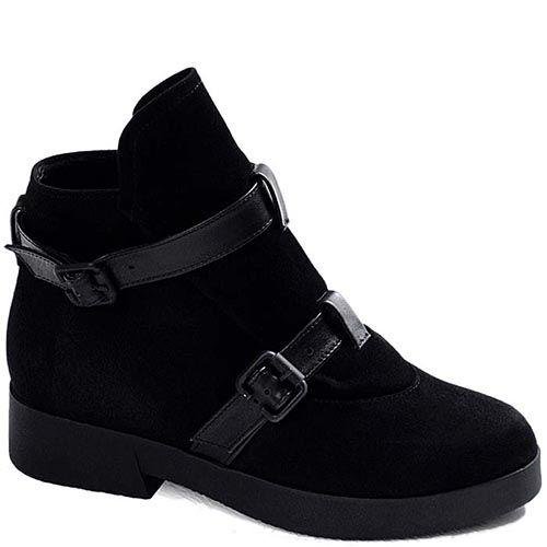 Демисезонные ботинки Modus Vivendi из натуральной замши с кожаными вставками, фото
