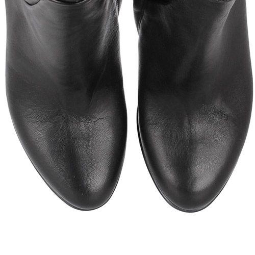 Сапоги Bianca Di черного цвета из гладкой кожи, фото