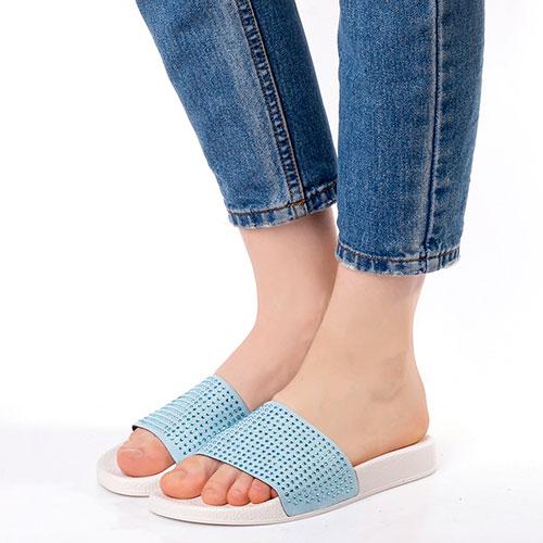 Шлепанцы Trussardi Jeans со стразами, фото
