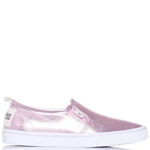 Слипоны Trussardi Jeans розового цвета, фото