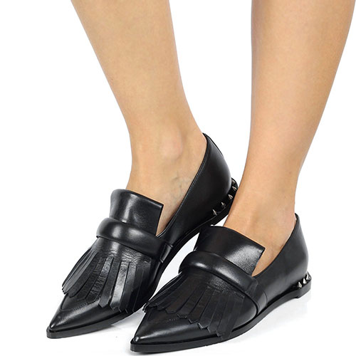 Туфли-лоферы Ras из натуральной кожи на низком ходу, фото